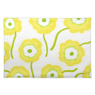 Yellow flowers by Gemma Orte Designs Placemat