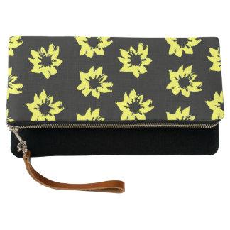 Yellow Flowers Clutch Bag