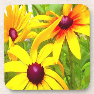 Yellow Flowers Coasters