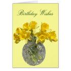 Yellow Flowers Daffodil Birthday Wishes Card