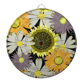 yellow flowers dartboard