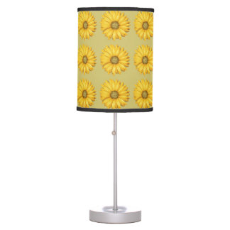 Yellow Flowers Desktop Lamp
