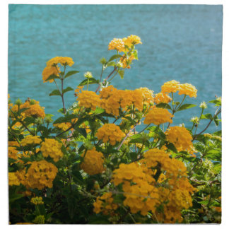 yellow flowers for good mood everyday napkin