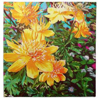 Yellow Flowers in the garden Art Napkin