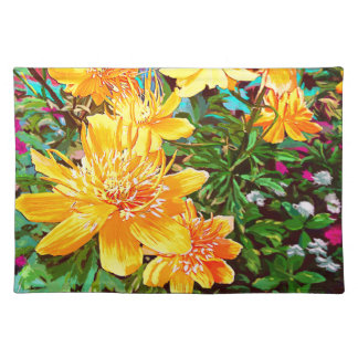 Yellow Flowers in the garden Art Placemat