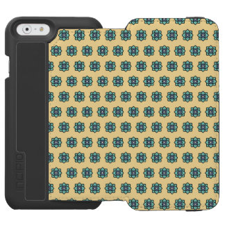 Yellow flowers pattern incipio watson™ iPhone 6 wallet case