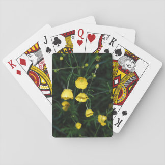 Yellow Flowers Poker Cards