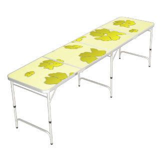 Yellow Flowers Pong Table