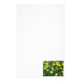 Yellow Flowers Stationery Design