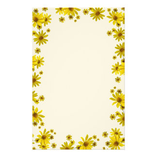 Yellow Flowers Stationery Paper