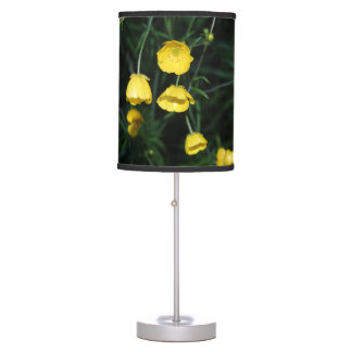 Yellow Flowers Table Lamp