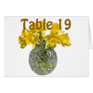 Yellow Flowers Table Number
