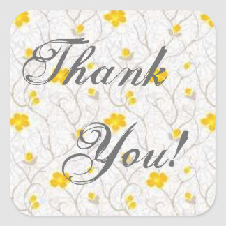 Yellow Flowers - Thank You Stickers
