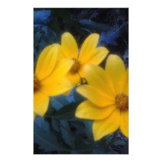 Yellow Flowersf Custom Stationery