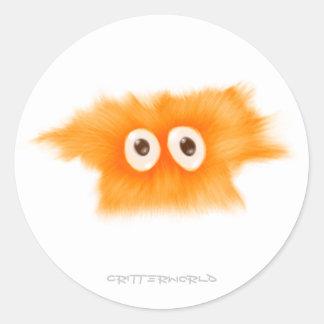 Yellow Fluffball Critter Classic Round Sticker