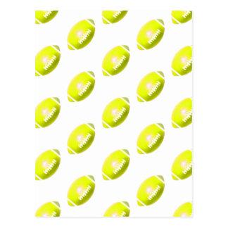 Yellow Football Pattern Postcard