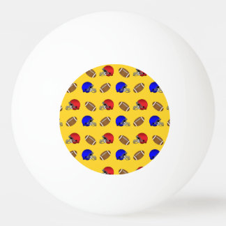 Yellow footballs helmets pattern ping pong ball