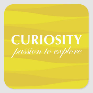 Yellow for Curiosity Square Sticker