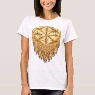 Yellow Fractal Fringe T-shirt