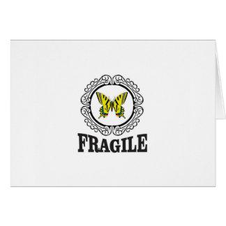 Yellow fragile marker card
