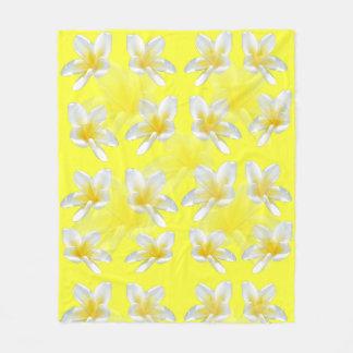 Yellow Frangipani Passion, Medium Fleece Blanket