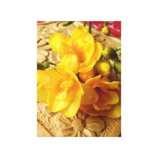 Yellow Freesia Bouquet Canvas Print