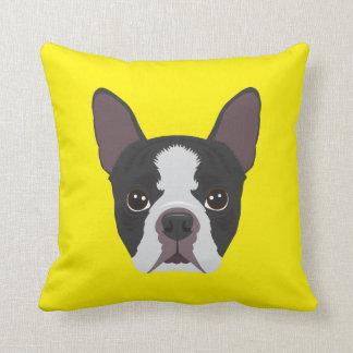 Yellow French Bulldog Throw Pillow