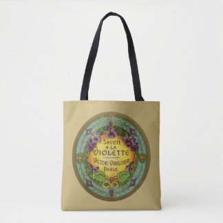 Yellow French Violet Shopping Tote Bag
