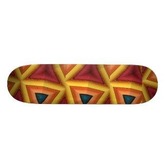 Yellow FriedlanderWann Design Skateboard Deck