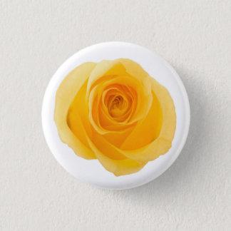 Yellow Friendship Photographic Rose Flower 1 Inch Round Button