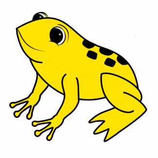 Yellow Frog Photo Sculpture Button
