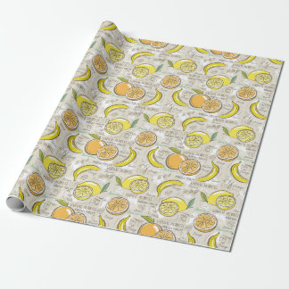 Yellow Fruit! Wrapping Paper