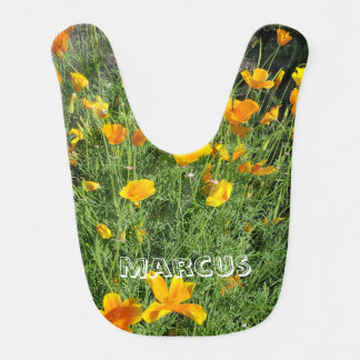 Yellow garden flowers bib