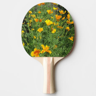 Yellow garden flowers ping pong paddle