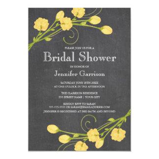 Yellow Garden Roses Bridal Shower Invitation