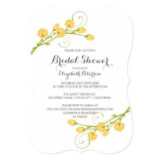 Yellow Garden Roses - Bridal Shower Invitation