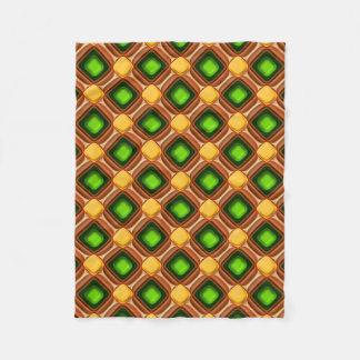 Yellow Gem Pattern Fleece Blanket