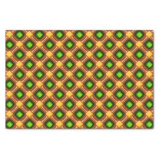 Yellow Gem Pattern Tissue Paper