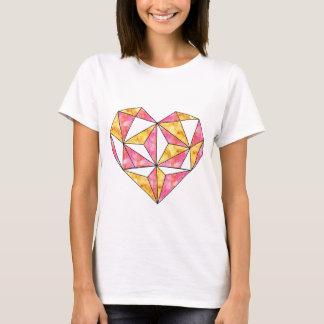 yellow-geo-heart-design T-Shirt