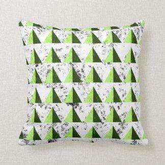 Yellow Geometric Distressed Pattern Throw Pillow
