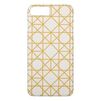 Yellow geometrical retro vintage patterns iPhone 7 plus case