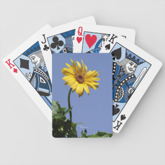 Yellow gerbera daisy flower Playing Cards