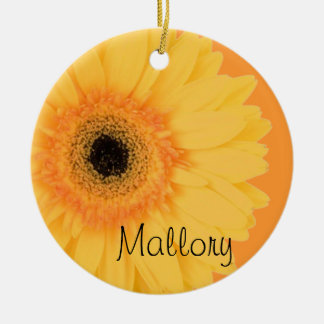 Yellow Gerbera Daisy Ornament