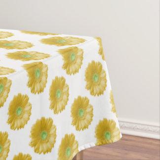 Yellow gerbera daisy tablecloth