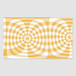Yellow gingham 70s effect sticker