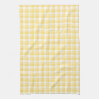 Yellow Gingham Check Pattern. Kitchen Towel
