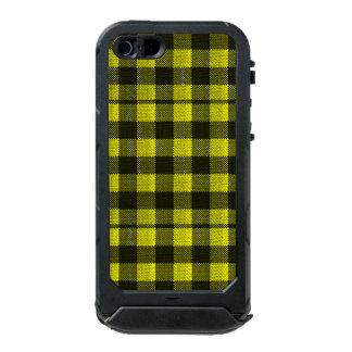 Yellow Gingham Checkered Pattern Burlap Look Incipio ATLAS ID™ iPhone 5 Case