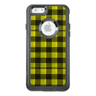 Yellow Gingham Checkered Pattern Burlap Look OtterBox iPhone 6/6s Case