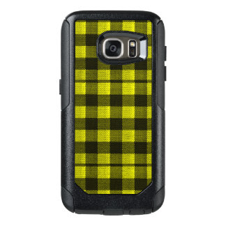 Yellow Gingham Checkered Pattern Burlap Look OtterBox Samsung Galaxy S7 Case