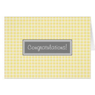 Yellow Gingham Congratulations on Expecting Card